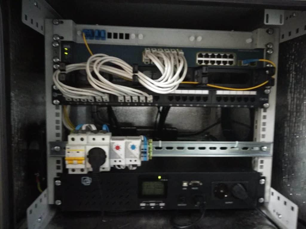 Монтаж системы видеонаблюдения и WiFi